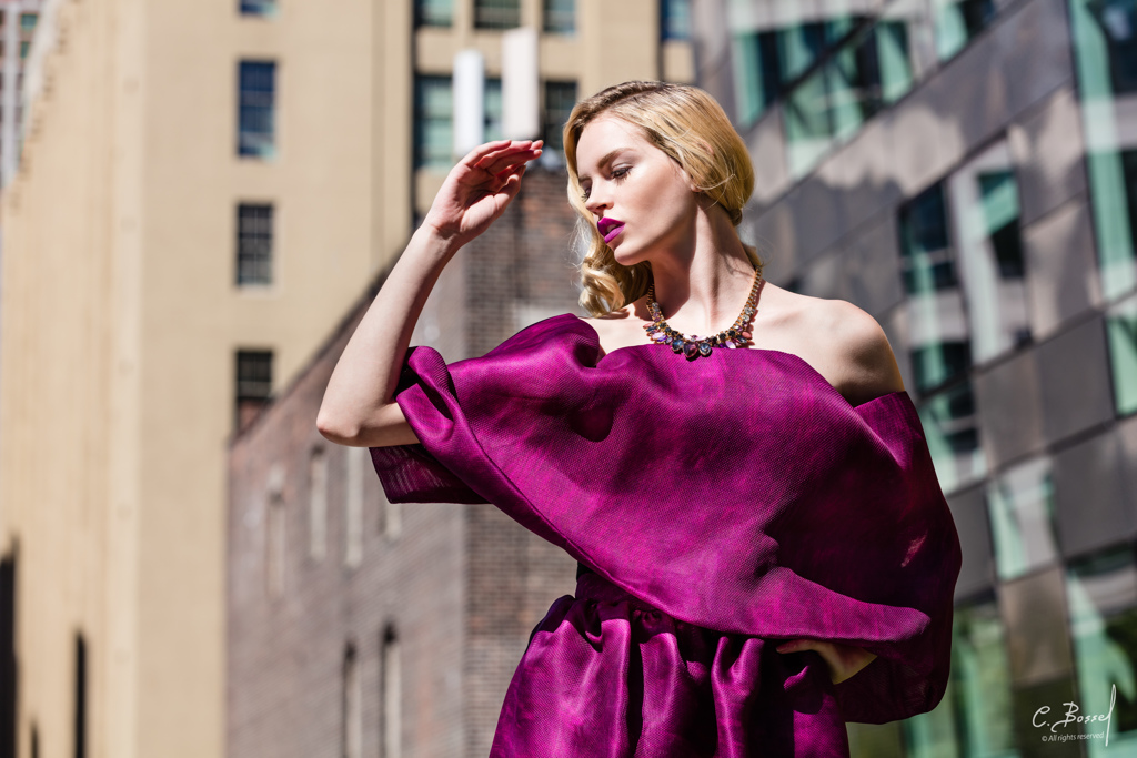 Fashion project with Jessy - New York Skyline, © Claude Bossel