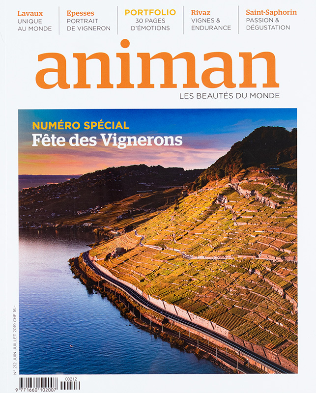 40 pages pour le Magazine Animan -  Régis Colombo photographe Lausanne